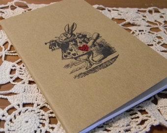 Mini Alice In Wonderland Red Glitter Heart Rabbit  Journal