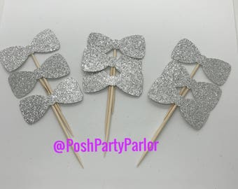 Bowtie Cupcake Toppers - One Dozen