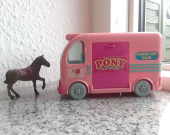 "Vintage PONY in My Pocket Playset BUS - ""Ponies on tour"" 1995 - Puppy in my pocket, Kitty in my pocket, vintage toy, collector, Christmas"