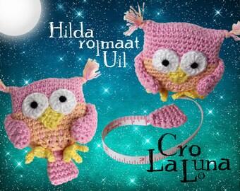 Hilda tape measure Owl (PDF Crochet Pattern)