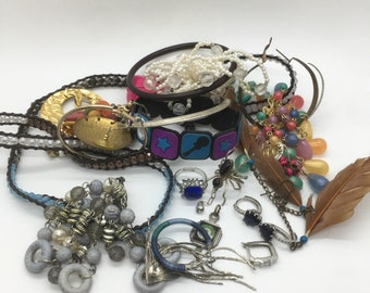 jewelry lot, Random stuff, findings lot, Steampunk lot, tangled, crafters lot, junk drawer lot, destash lot, theoldsilverbarrel, TheOSB