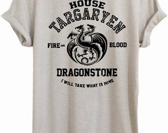 House Targaryen, GOT, daenerys targaryen, game of thrones gift, mother of dragons, khaleesi,game of thrones, GOT shirt T034