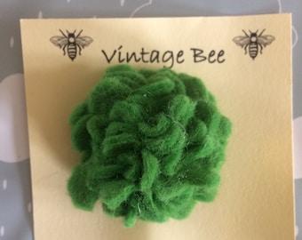 Quirky handmade felt flower brooch