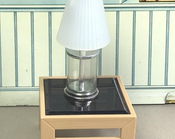 "TOMY TABLE and LAMP, 1:18 Lundby Scale, 1970's, ""Smaller Homes & Garden"", Vintage Dollhouse Accessory"