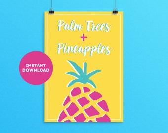 Pineapple Printable Wall Art