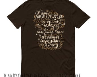 Dreamer of Improbable Dreams - Doctor Who Inspired Quote T-Shirt