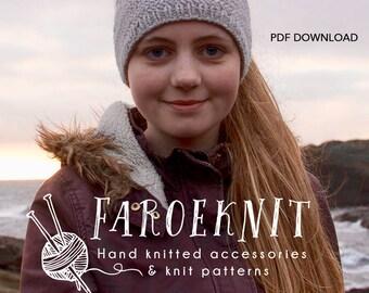 Nordic Viking PDF opskrift, PDF strikkeopskrift i 4 forskellige størrelser, for børn og voksne.