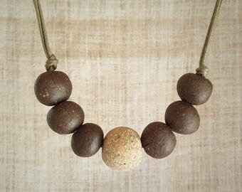 Necklace stoneware bead