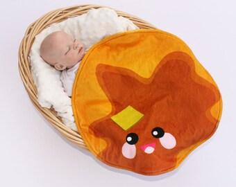 Pancake blanket kawaii Pancake baby butter blanket kawaii minky blanket baby blanket security blanket kawaii lovie lovey baby blanket
