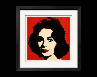 27x27 Print   Liz X Andy Warhol Pop Art Elizabeth Taylor Portrait Poster