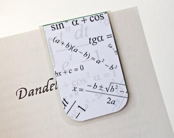 Math Magnetic Bookmark Laminated Trigonometry Quadratic Formula Algebra Science School Learning Geekery Mom Dad Teacher Gift Student School