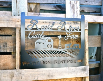 Cattle Farm Sign ( Personalized)