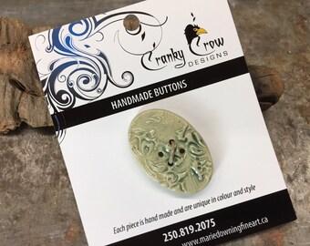 Stoneware Buttons, handmade buttons, handmade stoneware buttons, oval shaped buttons