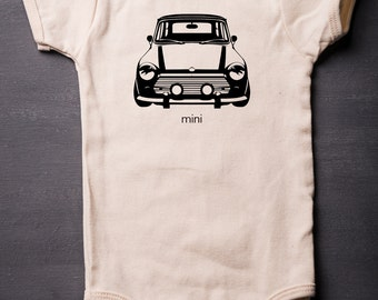 Mini Cooper - Baby Bodysuit - Cotton - Screen Printed - Baby Clothes - MicroThreads Apparel