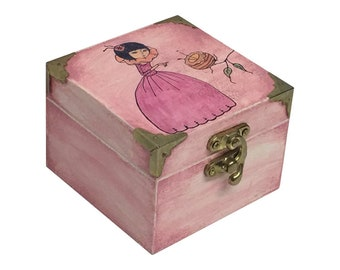 Mirabelle (Curiosity) Inspired Pink Trinket Box
