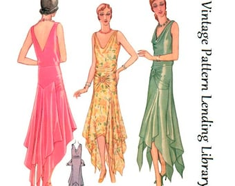 1929 Ladies Fishtail Evening Gown - Reproduction Sewing Pattern #Z5941