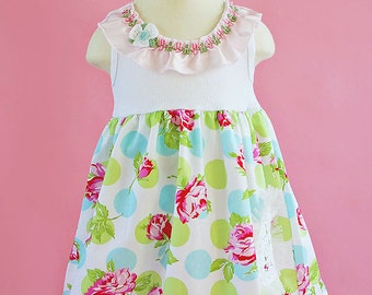 Shabby Sugar Chic Dress Size 4/5 6/6X 7/8 Custom Summer