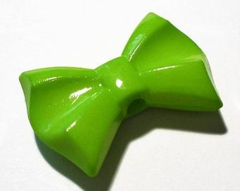 1 Pearl bow green 26x19mm AR359 Green