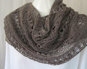 Hand Knit Rayon Neck Wrap