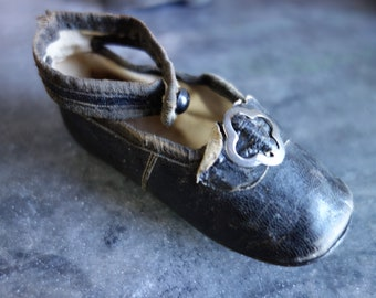 tiny antique shoe with buckle and button-exquisite!