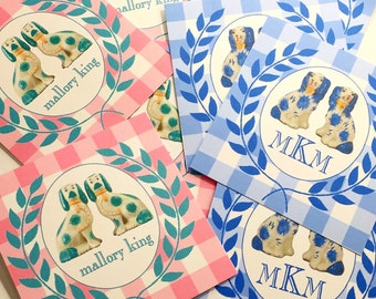 Monogram Wreath Staffordshire Gift Tags