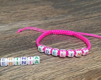 Sale!! Adelina Personalized Name Bracelet*Cool Kids bracelets* Fun bracelets* Mommy and Me Bracelets*Colorful bracelets*ANY Name/Word/Color