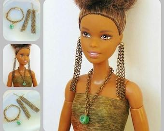 Barbie doll jewelry, barbie jewelry set, barbie accessories, fashion royalty, fashion doll, fashion doll jewelry, silkstone barbie, barbie