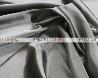 CLOSEOUT FABRIC - Bridal Satin Shiny Dress Apparel - Grey - 1.75 Yard