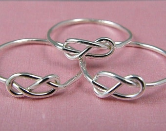 Five Infinity Rings / Bridesmaid Rings / Sisters Rings / Mother Daughters Rings / Wedding Sale / Tie the Knot Ring