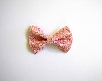 Pink Matte Glitter Bow Clip Beautiful Little Bow for Newborn Baby Child Little Girl Adult Photo Prop Adorable Valentines Day Love Bow