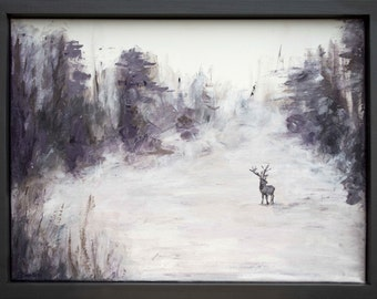 The Lone Stag - Acrylic on canvas - Original