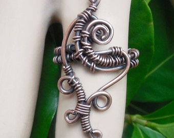 Funky tribal ring, wire wrapped ring, bohemian rings, boho rings, Size 6.5 ring, unique wire jewelry, boho jewelry, wire wrapped jewelry