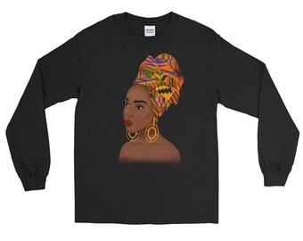 Kente Queen Long Sleeve T-Shirt