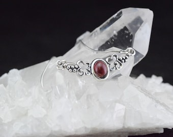 Garnet - 925 sterling silver pendant and necklace