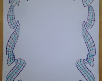 8.5x11 Babies Ribbon Framed Paper by NRN Designs