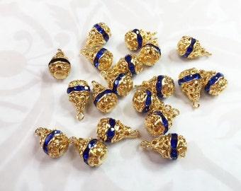 BLUE RHINESTONE Pear Drops