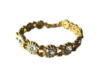 Joan Rivers Classic Collection Rhinestone Bracelet - Link Bracelet - Vintage Joan Rivers Jewelry - Costume Jewellery - Vintage Bracelet
