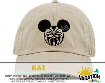 Mickey star wars Disney Hat Toddler Boy or Girl - Kids Disneyland Hat chewbacca - Disney Mickey Baseball Cap - Chewy starwars hat adult gift