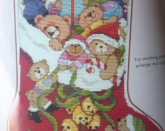 cross stitch Christmas stocking