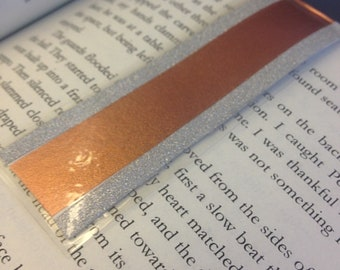 Magnetic Bookmark, Laminated, Book Lovers, Bookworm, Book Accessories, Gift, Bronze copper, Planner Bookmark, Page Marker, Washi Bookmark