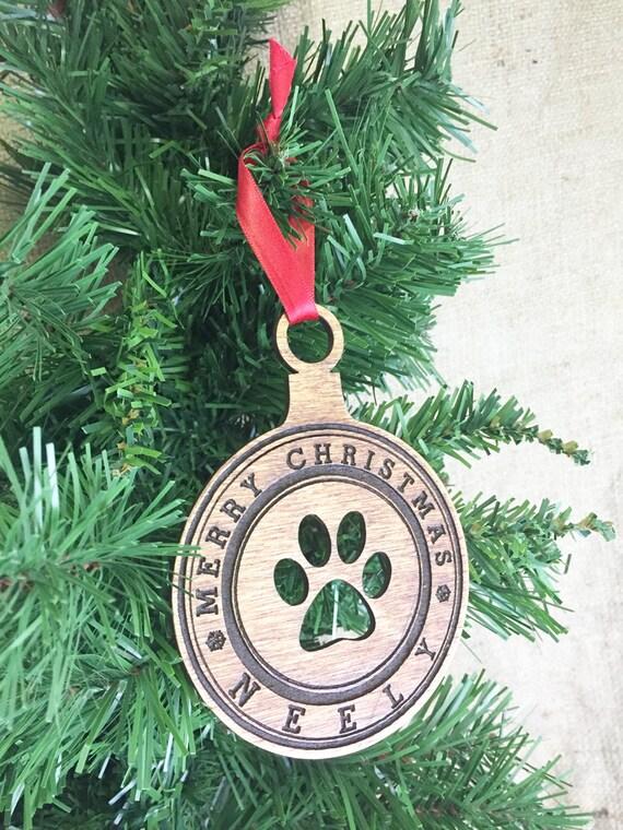 Dog Paw Ornament Dog Christmas Ornament Dog Ornament Custom