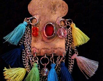 Colorful Tribal Necklace.