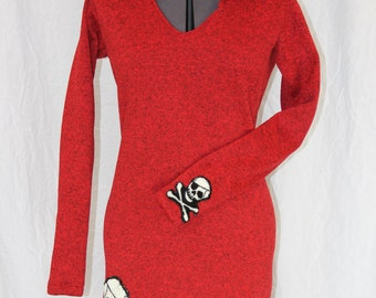 Red Skull Fleece Dress