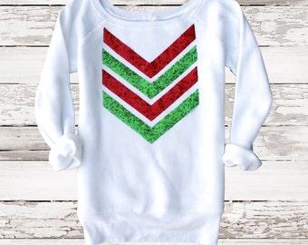 Christmas Shirt Sequin Chevron Sweatshirt Not Your Ugly Christmas Sweater Holiday Fashion Christmas Gift Liam Payne Tattoo 1D Plus Sizes