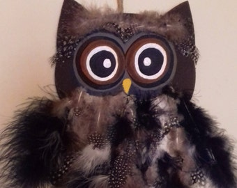 Wooden Hand Painted Owl!!