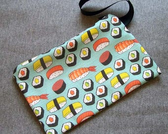 Sushi Wristlet Clutch Bag Purse