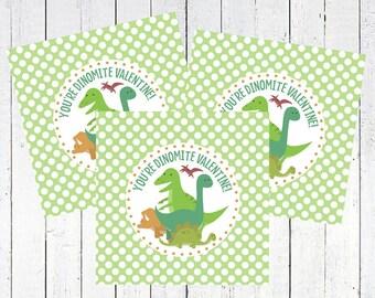 valentine tags printable dinosaurs - Dinosaurs Tags Printable