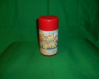 One(1), 1986, Lazer Tag Thermos, from Aladdin Industries.