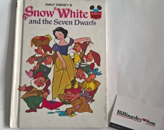 Walt Disney Snow White And The Seven Dwarfs Book Good Condition,Collectable, Retro Childrens Book circa1973 Rare Book
