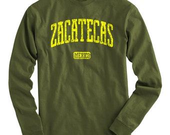 LS Zacatecas Mexico Tee - Long Sleeve T-shirt - Men and Kids - S M L XL 2x 3x 4x - Zacatecas Shirt, Mexican - 4 Colors